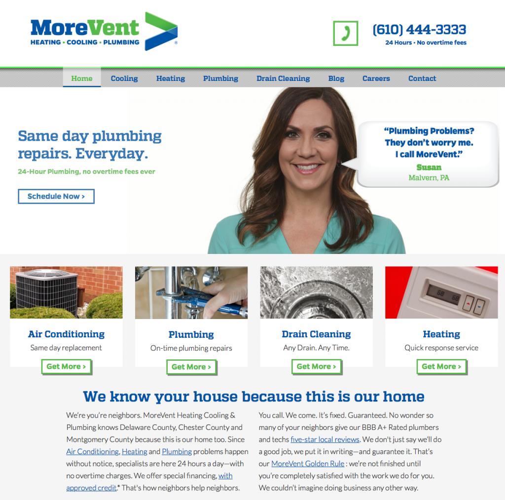 MoreVent: Silver Award Winning Website